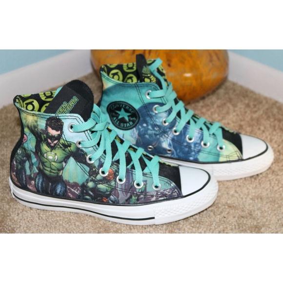007f447bf84e Converse Shoes - Converse Green Lantern High Tops Womens 7 Mens 5